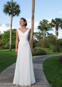 casual knee length casual simple white wedding dress